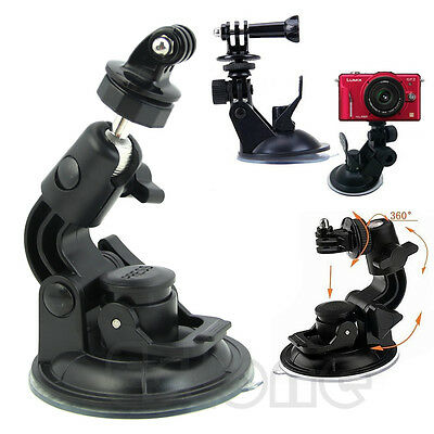 Car Suction Cup Mount Holder + Tripod Adapter For Camera GoPro HD Hero2 3 3+ 4