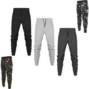 Détails sur Homme slim pantalon survêtement bas sweat pantalon brosse polaire jogging pantalon de survêtement afficher le titre d'origine