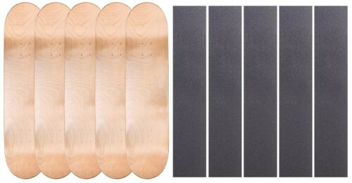 """5 PK Cal 7 Blank Maple Skateboard Deck Multi-Color 7.75/"""" 8/"""" 8.25/"""" with Grip Tape"""