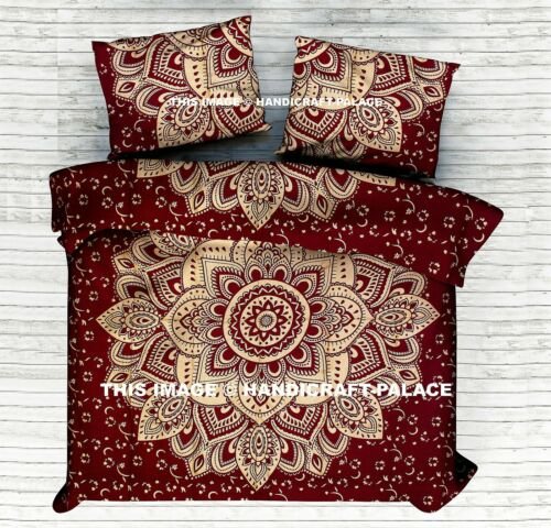 Indian Ombre Mandala Reversible Duvet Quilt Cover Bedding Ethnic Bohemian Throw