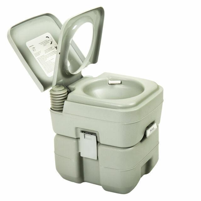 Green Gallon Portable Toilet Flush Travel Outdoor Camping Hiking Toilet Potty