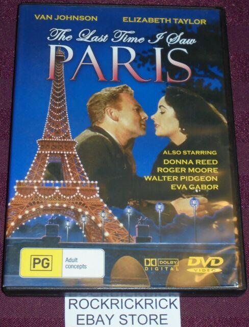 THE LAST TIME I SAW PARIS DVD (ELIZABETH TAYLOR, VAN JOHNSON) 1954 ALL REGIONS