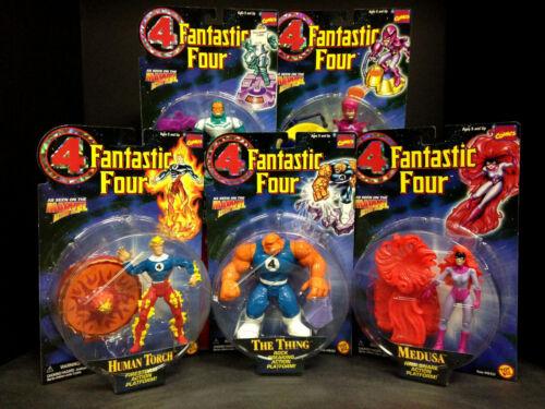1996 TOY BIZ Fantastic Four Série 4 5 Figure Plate-forme Définir la chose Medusa D