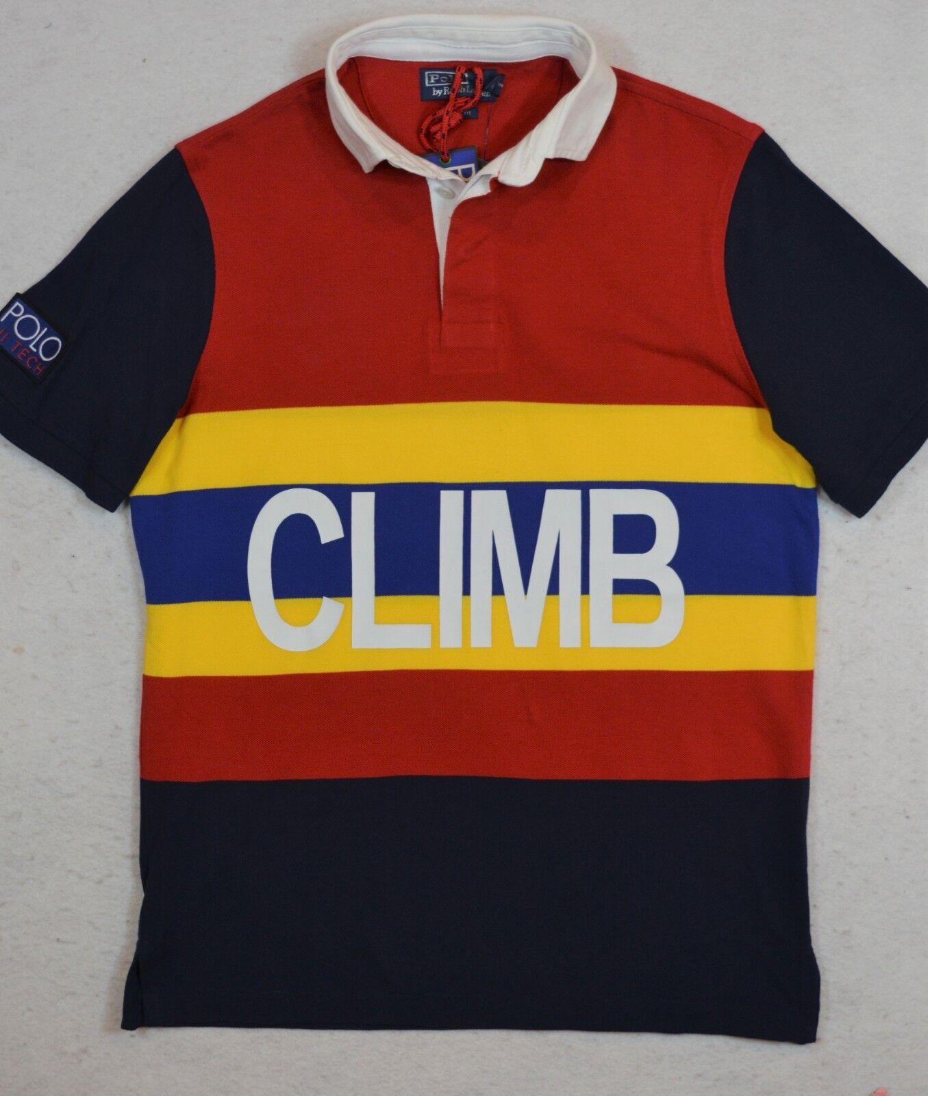 Polo Ralph Lauren Hi Tech CLIMB Mesh Rugby Classic Fit Shirt L XL NWT