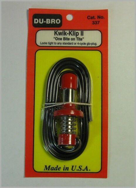 Dubro Kwik-Klip II Glow Plug Connector L-DB337