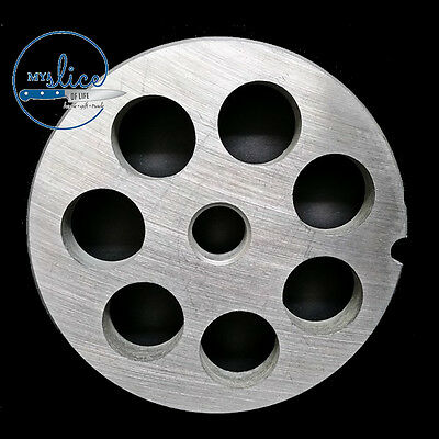 #22 Mincer Plate 18mm Holes Stainless Steel Hunter Sausage Making Butcher