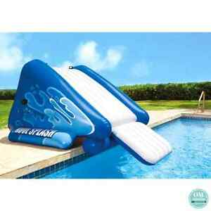 Image Is Loading Intex Water Slide Inflatable Float Swimming Pool Splash
