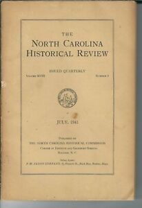NN-019 North Carolina Historical Review Magazine July 1941, Flora Macdonald