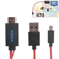 Aibocn Mhl Micro Usb To Hdmi Adapter Cable 1080p Hdtv For Samsung Galaxy Tab 3