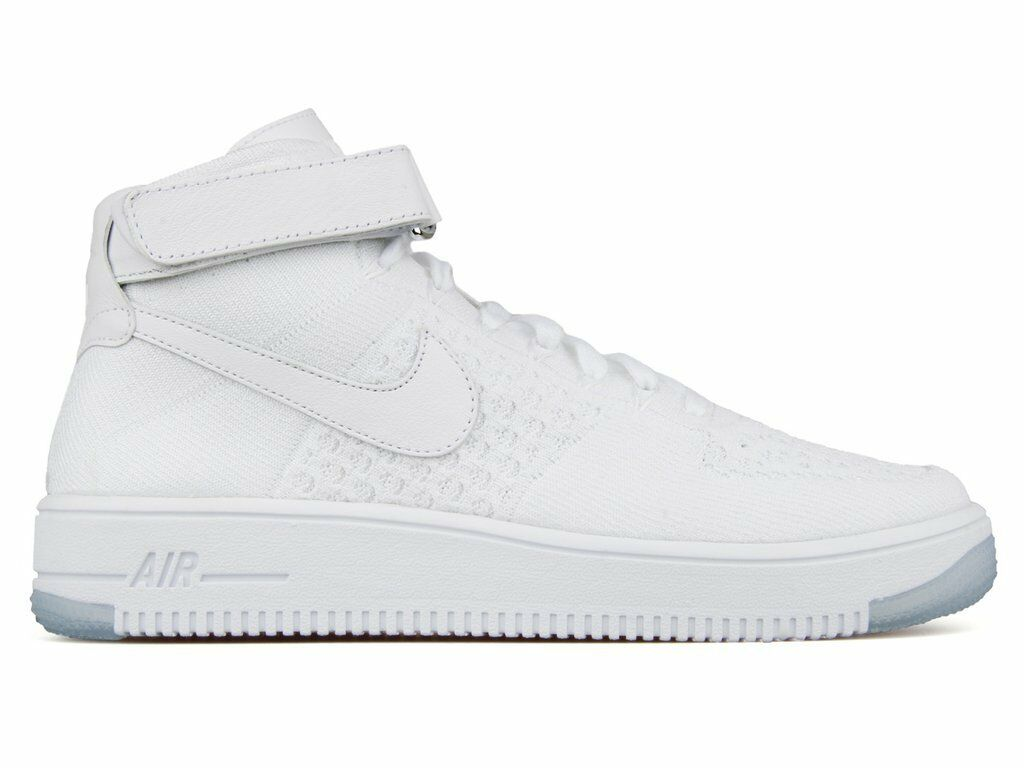 Hombre's Nike Air Force 1 Ultra Flyknit MID 817420 Zapatos Hi Top trainers 817420 MID 100 17d41a