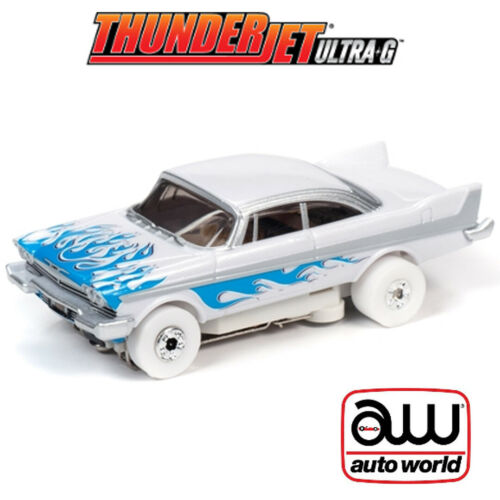 Auto World Thunderjet Flames R29 1958 Plymouth Fury iWheels HO Scale Slot Car