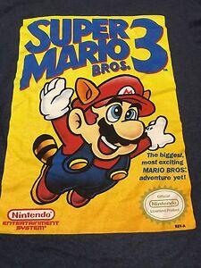 Super-Mario-3-Small-T-Shirt-Game-Cover-Nintendo-NES
