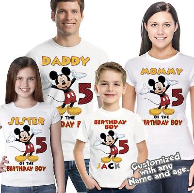 Mickey Mouse Birthday Shirt Mickey, Mickey Mouse Family ...