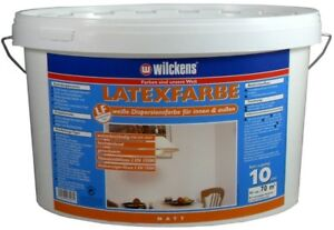wilckens latexfarbe matt wei abwaschbar dispersionsfarbe innen au en 10 liter ebay. Black Bedroom Furniture Sets. Home Design Ideas