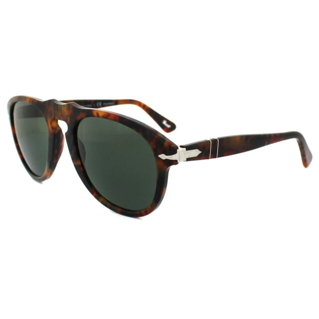 ec72fd1713f Persol Sunglasses 0649 108 58 Spotted Brown Caffe Green Polarized 52mm