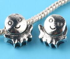 Fashion 2pcs Tibetan silver Spacer beads fit European Bracelet Chain #D185