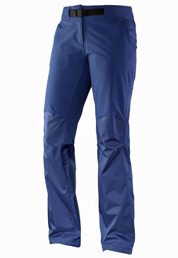 Women's Trousers Outdoor Trekking Hiking Salomon Field Pant W, bluee, Size 30