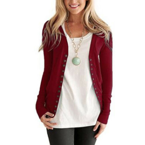 Spring Autumn Single Breasted Jacket Cardigan Female Casual Coat Outerwear LG