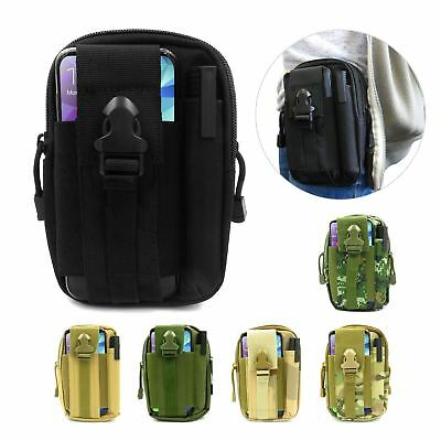Cinturón táctico de paquete de la cintura bolsa de trabajo Bolso Molle campamento excursiones Billetera Soporte para teléfono   eBay