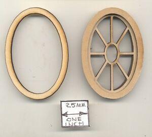 Fenêtre Ovale Grenier 2130 En Bois Maison De Poupée Miniature 1