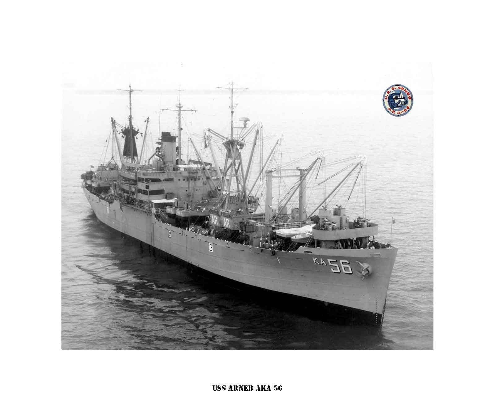 USS ARNEB AKA 56 , US Naval Ship,  USN Navy Photo Drucken