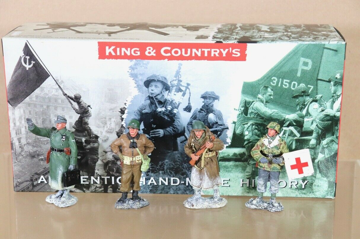 KING & COUNTRY BBA003 BATTLE of of the BULGE GENERAL McCAULIFFE & GERMAN NUTS nu