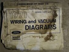 1971 Ford Wiring And Vacuum Diagram Book For Sale Online Ebay