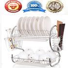 Kitchen organization holder 2 Tier Stainless Chrome Dish Drainer Drying Rack SA