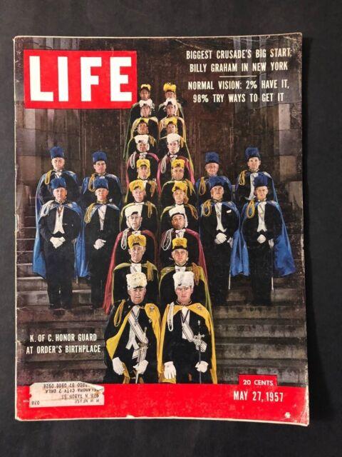 Life Magazine  May 27 1957  Knights of Columbus Honor Guard
