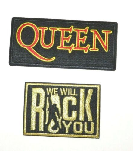 "Queen Music Group /""We Will Rock You/"" Inspired Set of 2 Patches"