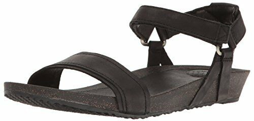 21a7f88d8a0ee5 Teva Womens W Ysidro Stitch Wedge Sandal Black Leather Sizes Strappy ...