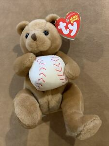 Shortstop The Baseball Bear Ty Beanie Baby 2005