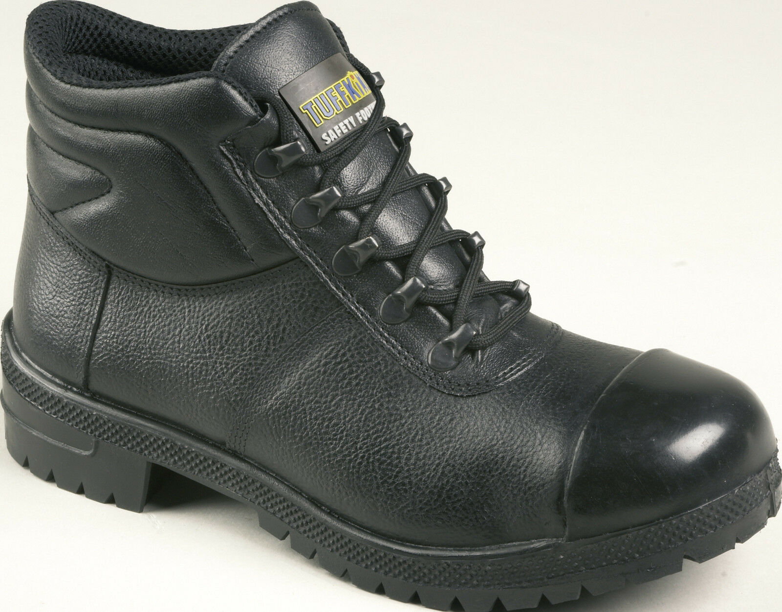 Tuffking puntera 3110 S3 Negro Acero puntera Tuffking de goma Bump PAC Botas De Seguridad Bota De Trabajo PPE 0d6e74