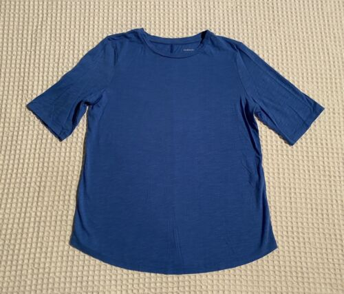 EILEEN FISHER Organic Cotton Elbow Length Sleeve T