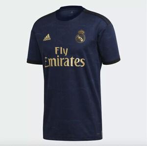 $90 Adidas Real Madrid 2019 Away Soccer Jersey Men's Sz XS Blue/Gold FJ3151 NWT