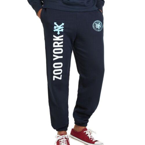ZOO YORK-Emblème-Men /'s Jogging Sweat Pantalon-Bleu Marine