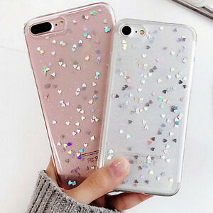 official photos 6fa09 59bbb Details about Sparkle Crystal Bling Heart Glitter Phone Case Cover For  Apple iPhone 6s 7 Plus