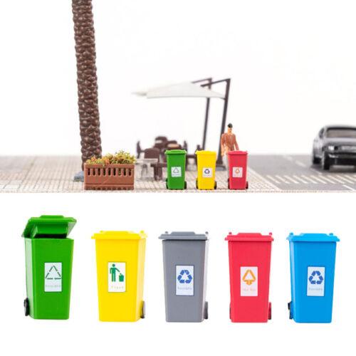 colorido cubo basura juguete mini basura camiones cubo basura 5x latas de basura juguetes