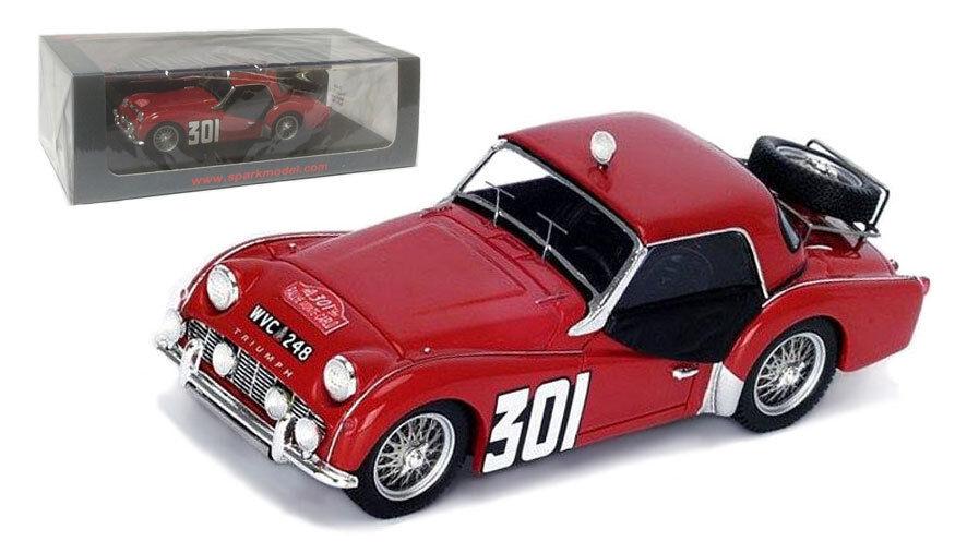 Spark S1408 Triumph TR3 A Monte Carlo 1960 - J J Thuner 1 43 Scale