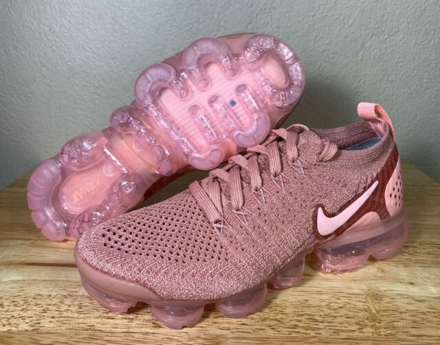 Nike Air VaporMax Flyknit 2 Rust Pink Womens | 942843 600