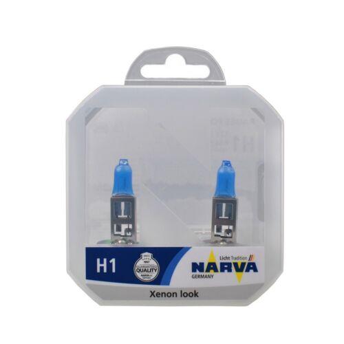 Coppia Lampade Lampadine xenon look effetto xeno NARVA SET H1 RPW P145s 55W 12V