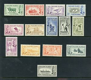 V495-Falkland-Islands-1952-Gvi-Pictorials-14v-MNH