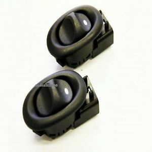 Frontrear electric power window switch pair black holden image is loading front rear electric power window switch pair black sciox Images