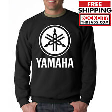 YAMAHA IN BLUE HOODIE BLACK Racing Motocross Motox Hooded Sweatshirt ATV Logo