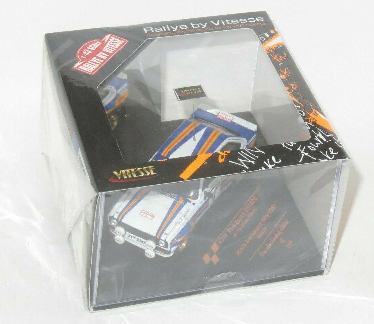 precios mas bajos 1 43 43 43 Ford Escort Mk2 RS1800 Mintex International Rally 1981 ganador P. AIRIKKALA  diseños exclusivos
