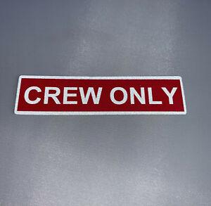Crew-Only-Aufkleber-rot-weiss-reflektierend-Sticker-neu