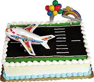 AIRPLANE Cake Kit Topper Decoration JET JETLINER Airliner Pilot eBay