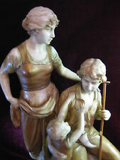 Royal Dux Figur Riesig 46 cm Familie 2145 Top Zustand ca. 1900 Bauer Ernte Sense
