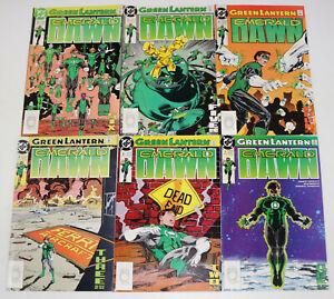 Green Lantern Emerald Dawn #1 2 3 4 5 6 DC 1989 Comic Book Set 1-6 Complete