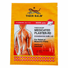 Large (10x 14 cm) Tiger Balm Medicated Plaster-RD, 2 Plasters Fast&Free Delivery